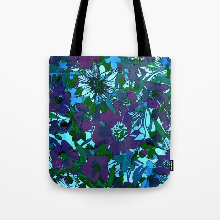 floral melodie in purple Tote Bag