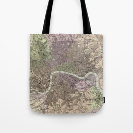 Vintage Map of London England (1872) Tote Bag