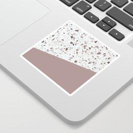 Terrazzo Texture Antique Pink #6 Sticker