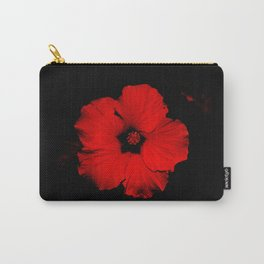 Bold Red Flower: I'm Here! Carry-All Pouch