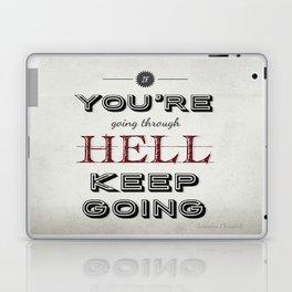 Churchill Quote Laptop & iPad Skin