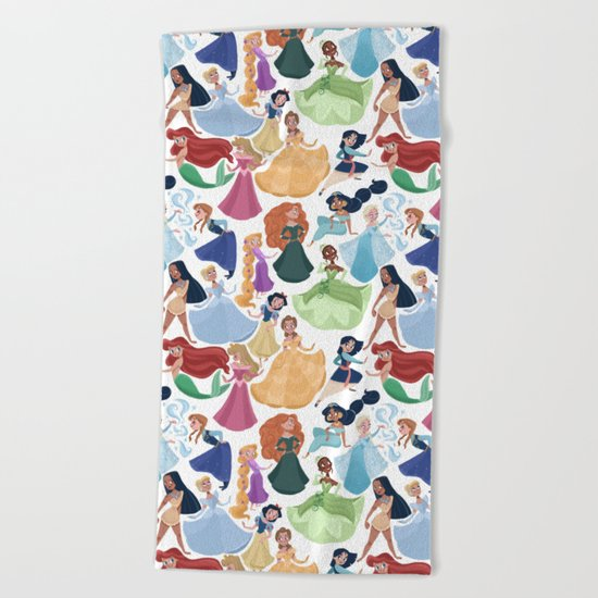 Forever princess Beach Towel