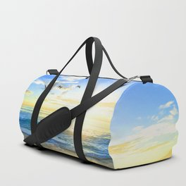Freedom is an empty beach Duffle Bag