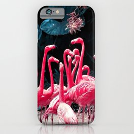 Seriously Pink Flamingos iPhone Case