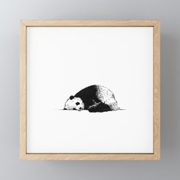 Sleepy Panda Framed Mini Art Print