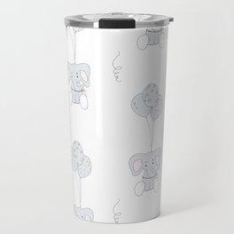 Elephants with Balloons Travel Mug