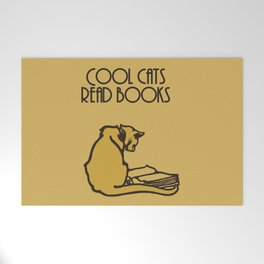 Cool cats read books Welcome Mat
