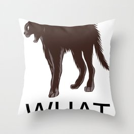 What Cat? Halloween Cat Throw Pillow