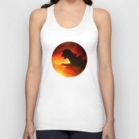 godzilla Tank Tops featuring godzilla by avoid peril