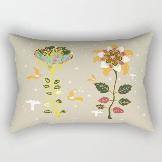 Two flowers Rectangular Pillow