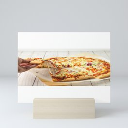 Pizza Slices (23) Mini Art Print