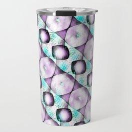 Horizontal Shadow Geometrics Lavender Travel Mug