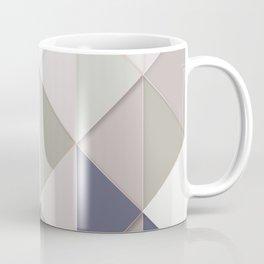 abstract geometric pattern neutral tones Coffee Mug