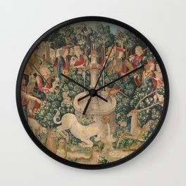 The Hunt of the Unicorn Wall Clock