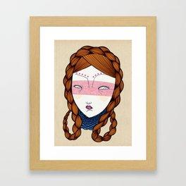The red hair Framed Art Print