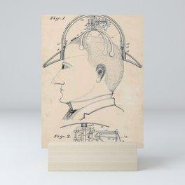 Vintage Funny Hat Saluting Device Patent Invention Mini Art Print