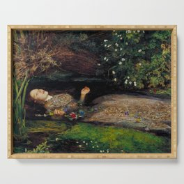 John Everett Millais Ophelia Painting Serving Tray