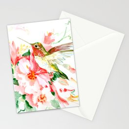 Hummingbird, Hawaiian Design, Hibiscus and Hummingbird Stationery Cards