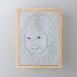 Crying Girl Framed Mini Art Print