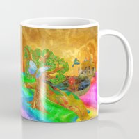 miles davis Mugs featuring Let color bring you smiles as you walk lifes many miles by Donuts