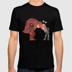 Mass Effect - Wrex and Shepard LARGE Black Mens Fitted Tee