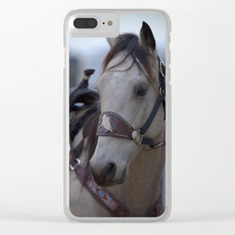 Horse in bridle Clear iPhone Case