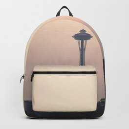 Smoky Sunset in Seattle Backpack
