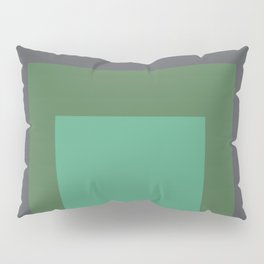 Block Colors - Greens and Grey Pillow Sham