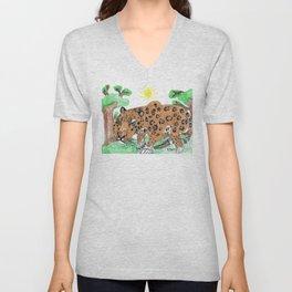 Indian Leopard Unisex V-Neck