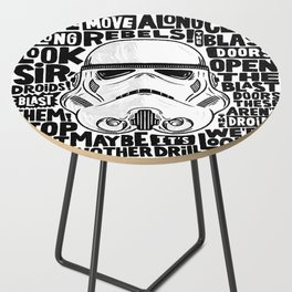 """""""Look Sir, Droids! - Stormtrooper"""" by Matthew Taylor Wilson Side Table"""