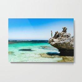 Snorkelling Rottnest Island Metal Print