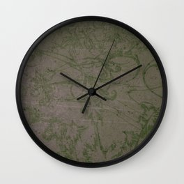 Vintage Victorian Floral Wall Clock