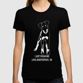 Jagdterrier-tshirt,-just-freaking-love-my-Jagdterrier T-shirt