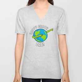 Happy Earth Day Dabbing Kids Unisex V-Neck