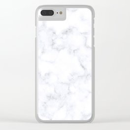 Classic Grey and White Natural Stone Veining Quartz Clear iPhone Case
