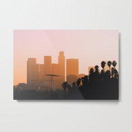 DTLA Sunset Metal Print