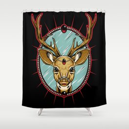 Deer in the Headlights Shower Curtain