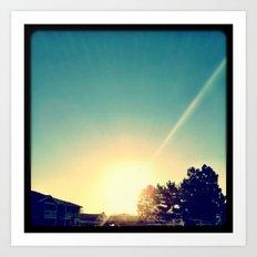 Sun. Art Print