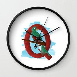 Q comme Quetzal Wall Clock