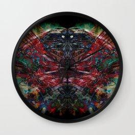 Raven twins Wall Clock