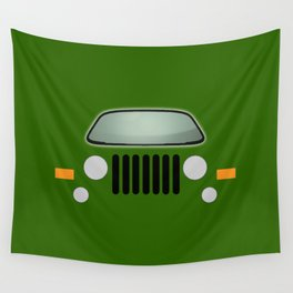 green jeep Wall Tapestry