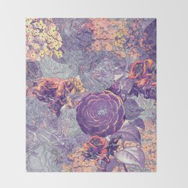 Blue rose Throw Blanket