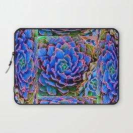 ORNATE BLUE-PINK SUCCULENT ART Laptop Sleeve