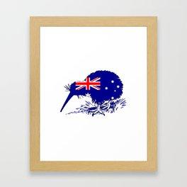 Australian Flag - Kiwi Bird Framed Art Print