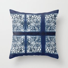 Planted in Blue Throw Pillow
