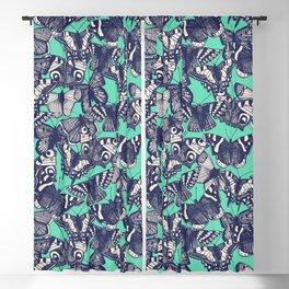 butterfly mint Blackout Curtain