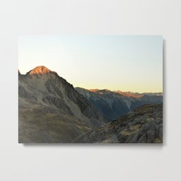 Sunset in Nelson Lakes National Park Metal Print