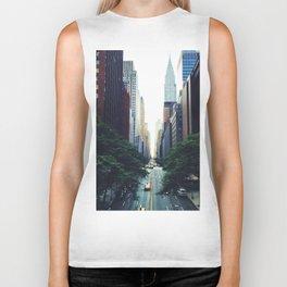 New York City Street Skyscapers Travel Wanderlust #tapestry Biker Tank