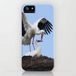 White Stork Nest iPhone Case