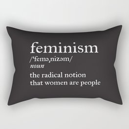 Feminism Definition Rectangular Pillow